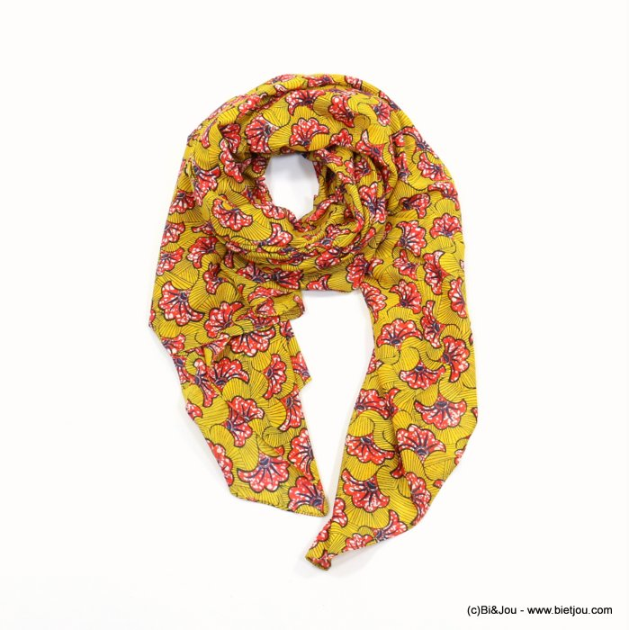 scarf 0719017-99 wax print 100%cotton 180x100cm