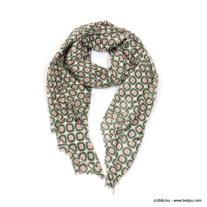 scarf 0719024-03 wax print 100%cotton 180x100cm