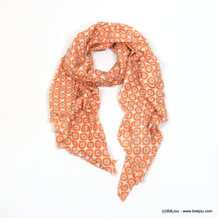 scarf 0719024-23 wax print 100%cotton 180x100cm