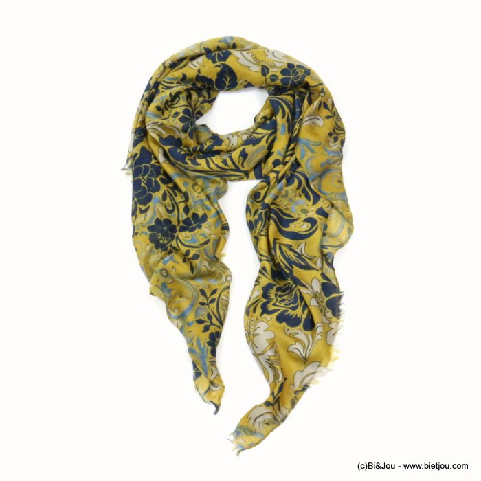 scarf 0719512-43 flower 80%viscose 20%cotton 180x90cm