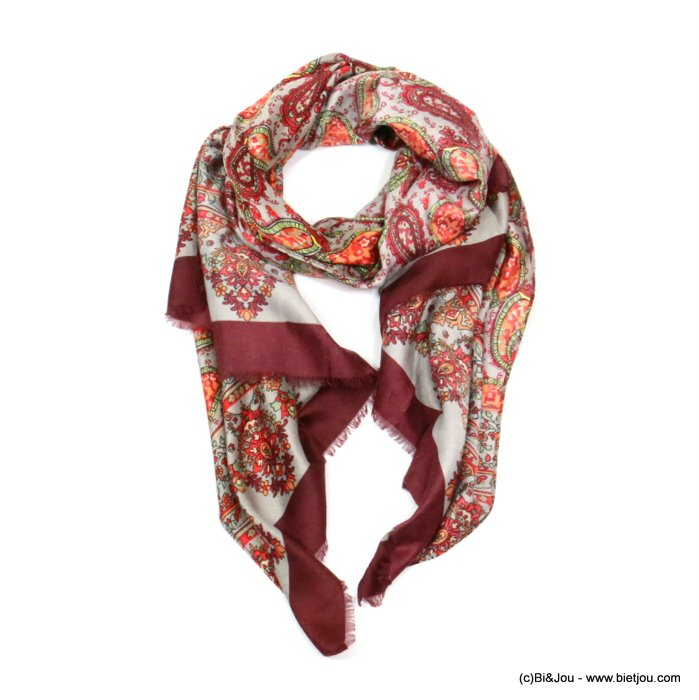 scarf 0719524-10 designed in France 180x90cm 100%viscose