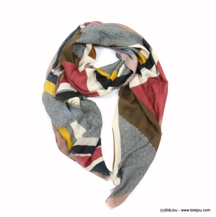 scarf 0719525-06 designed in France 180x90cm 100%viscose