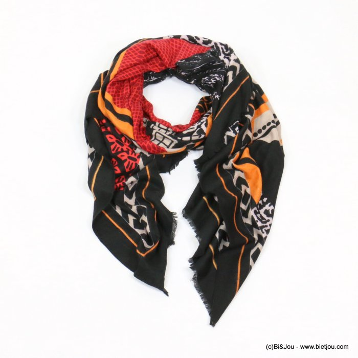 scarf 0719531-01 180x90cm 50%cotton 50%viscose