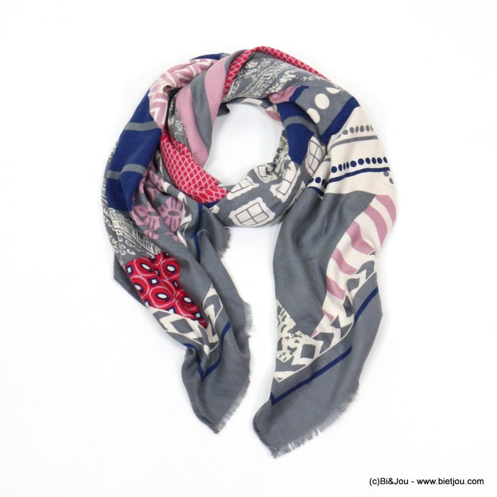 scarf 0719531-25 180x90cm 50%cotton 50%viscose