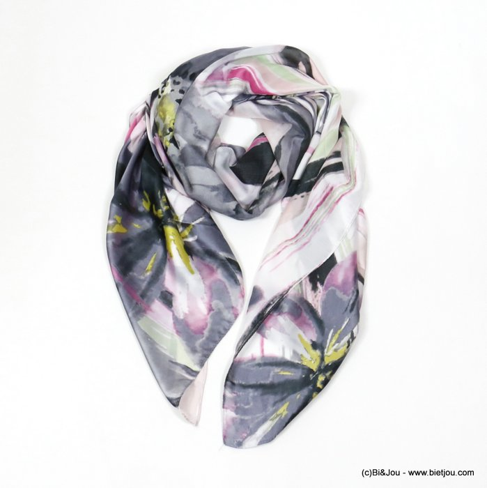 scarf 0720005-01 flower 180x90cm 20%silk 80%viscose