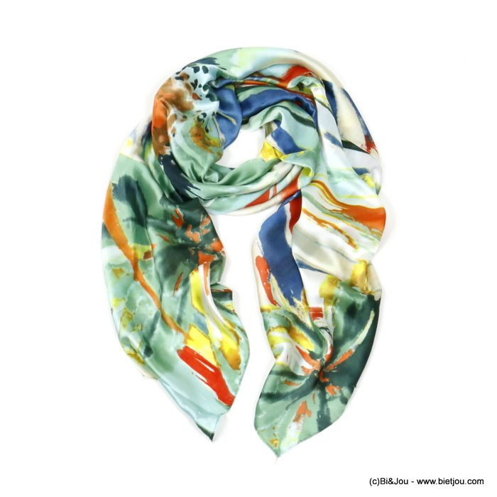 scarf 0720005-07 flower 180x90cm 20%silk 80%viscose