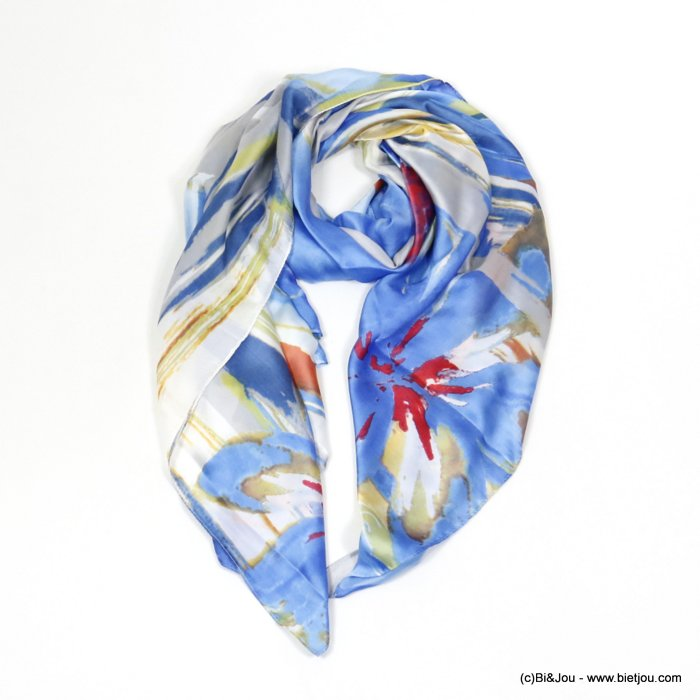 scarf 0720005-08 flower 180x90cm 20%silk 80%viscose