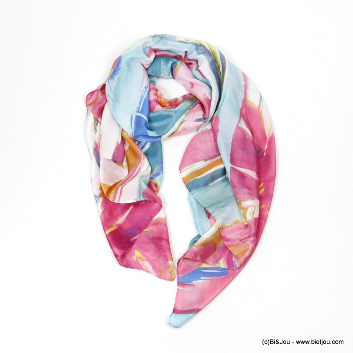 scarf 0720005-28 flower 180x90cm 20%silk 80%viscose