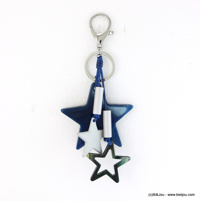 keychain 0817504-09 star 70x165mm resin-polyamide-aluminium