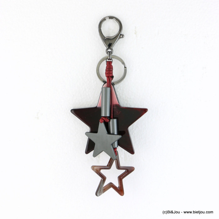 keychain 0817504-10 star 70x165mm resin-polyamide-aluminium