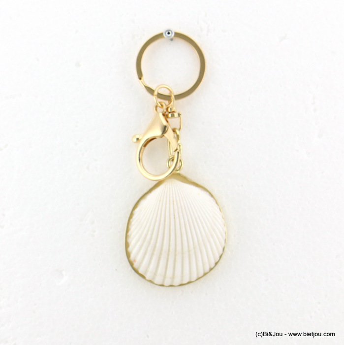 keychain 0818007-06 43x108mm metal-acrylic-shell