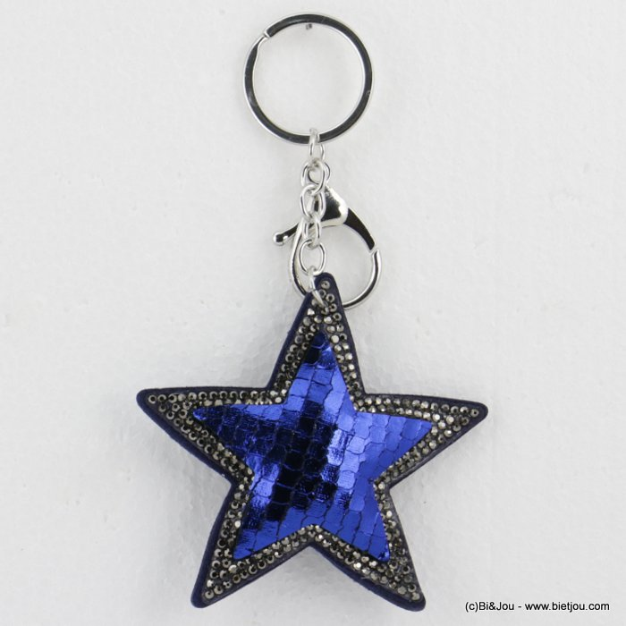 keychain 0818501-08 oversize glitter coloured star 14x8cm woman