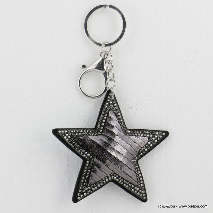 keychain 0818501-20 oversize glitter coloured star 14x8cm woman