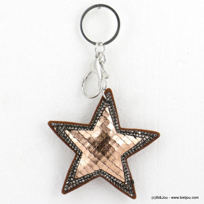keychain 0818501-23 oversize glitter coloured star 14x8cm woman