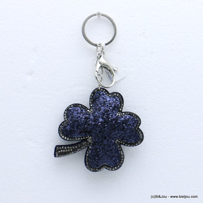 keychain 0818504-09 clover glitter synthetic-strass 73x133mm