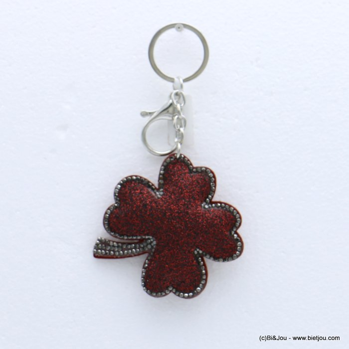 keychain 0818504-10 clover glitter synthetic-strass 73x133mm
