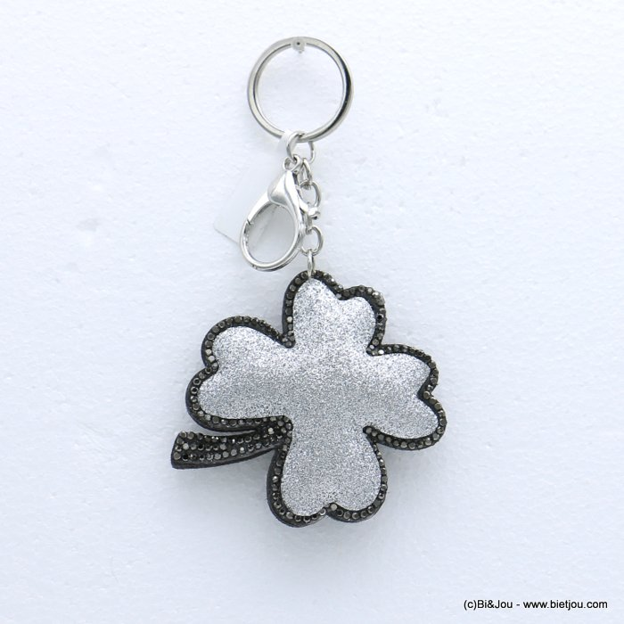 keychain 0818504-13 clover glitter synthetic-strass 73x133mm