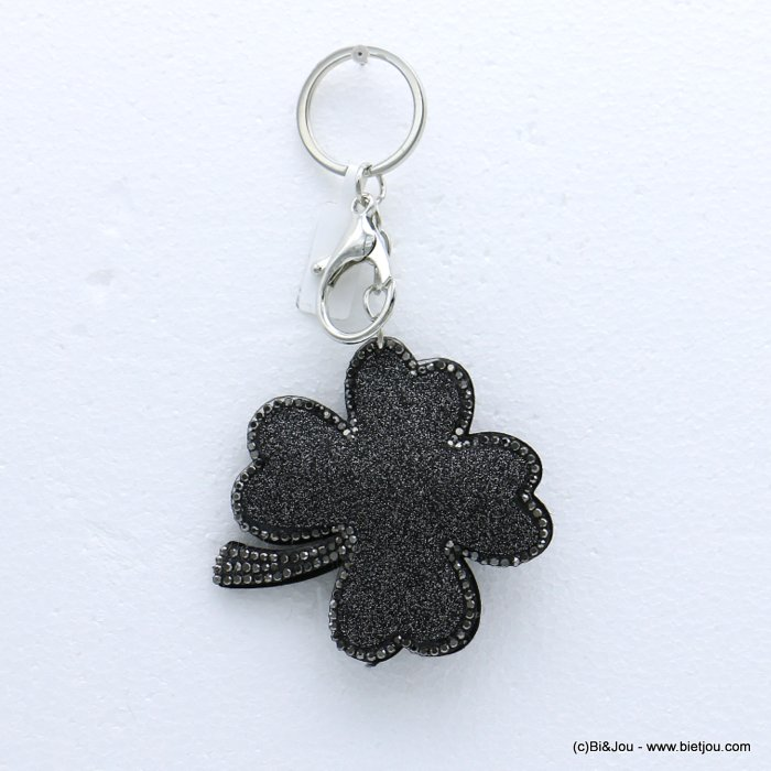 keychain 0818504-26 clover glitter synthetic-strass 73x133mm
