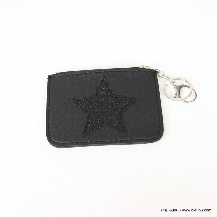 keychain 0818506-01 star glitter purse/card wallet synthetic 120x85mm