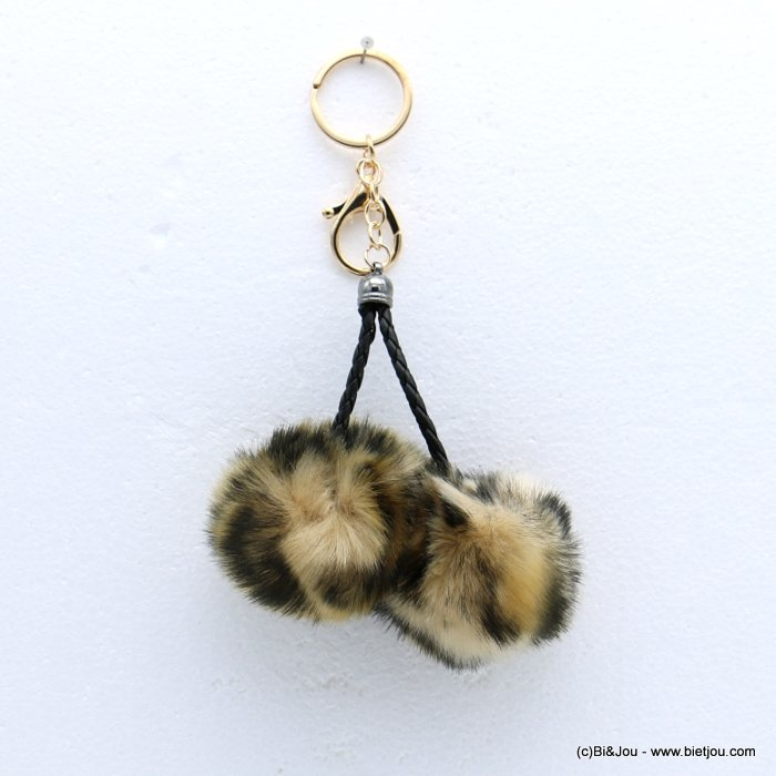 keychain 0818510-06 fur imitation synthetic leopard-print 95x180mm