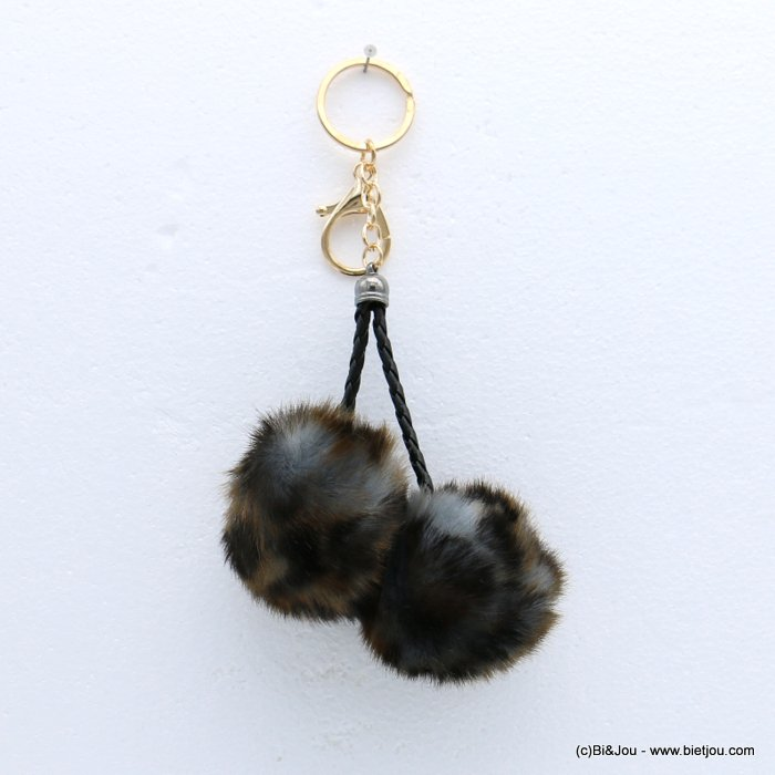 keychain 0818510-26 fur imitation synthetic leopard-print 95x180mm