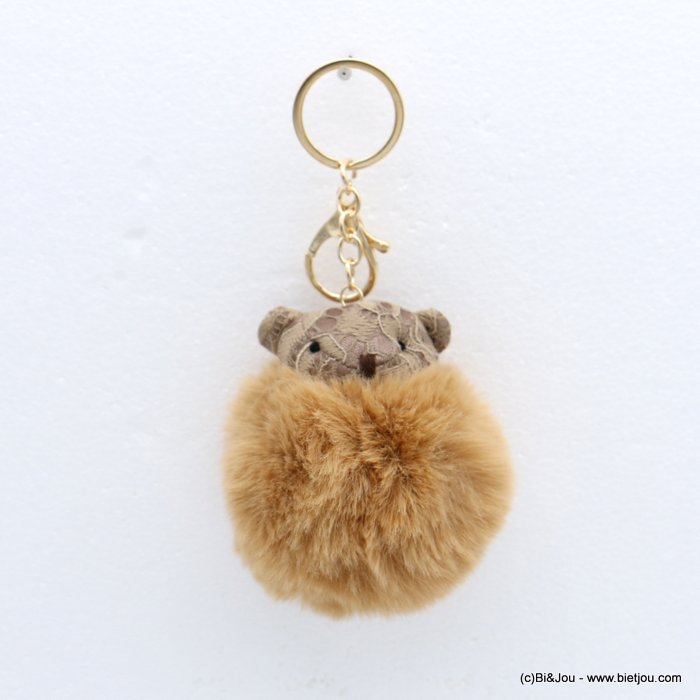 keychain 0818511-06 fur imitation synthetic bear pompon lace 75x140mm
