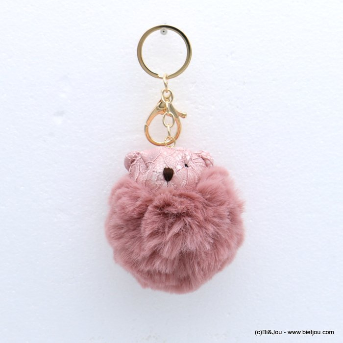 keychain 0818511-18 fur imitation synthetic bear pompon lace 75x140mm