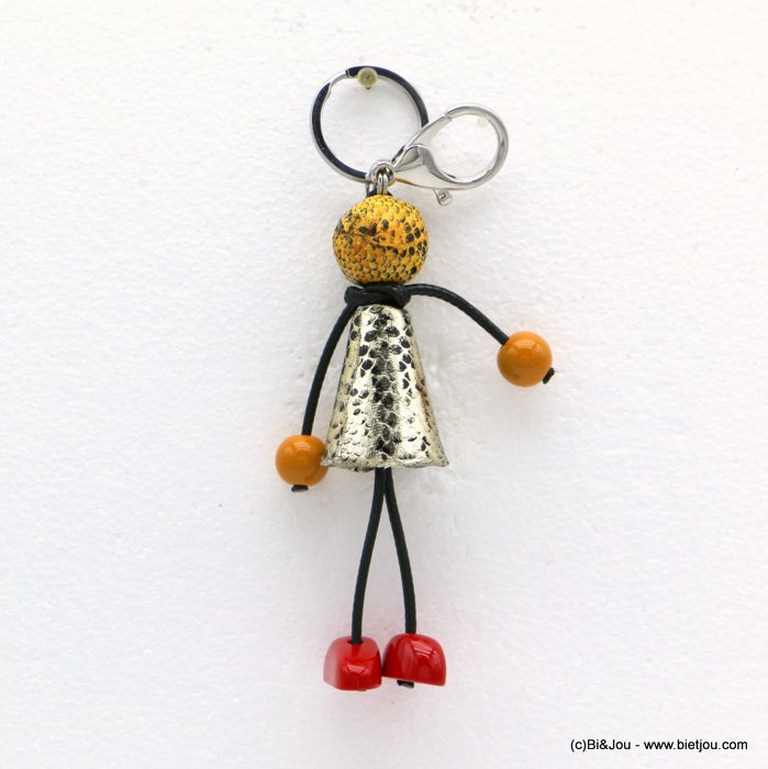 keychain 0819502-43 doll leopard print dress ball acrylic 40x160mm