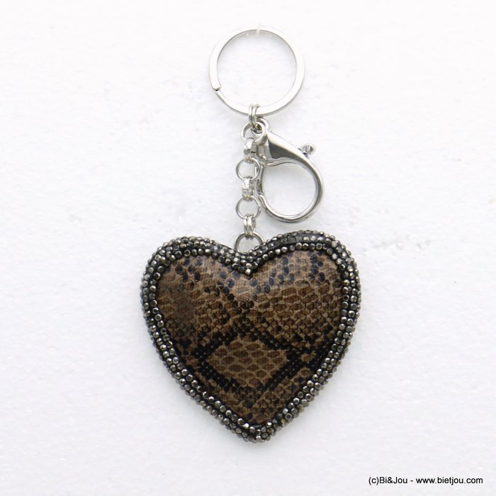 keychain 0819505-02 boa snake python print metal-crystal-synthetic 66x132mm