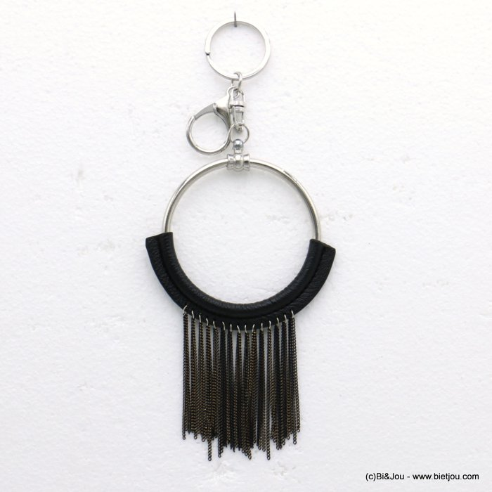 keychain 0819516-01 pompon tassel metal-synthetic 85x190mm