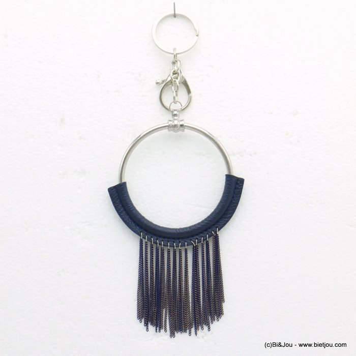 keychain 0819516-09 pompon tassel metal-synthetic 85x190mm