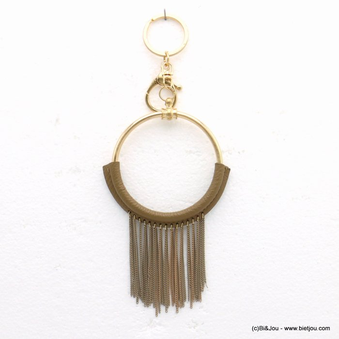 keychain 0819516-30 pompon tassel metal-synthetic 85x190mm
