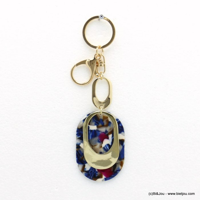 keychain 0820004-09 tortoise shell resin-metal 43x146mm