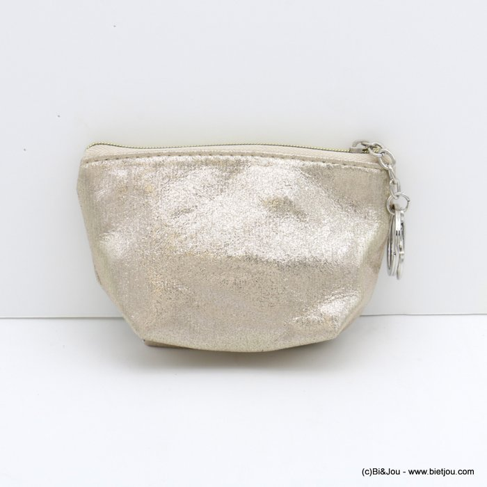 wallet 0820005-06 shiny glitter in polyester with keyholder ring for woman 12x9cm