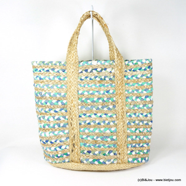 handbag 0916109-17 HAND WOVEN PRODUCT 80%cotton 20%jute