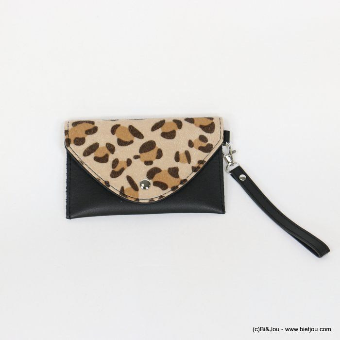 handbag 0918532-06 leopard-print clutch/belt bag synthetic 170x107mm