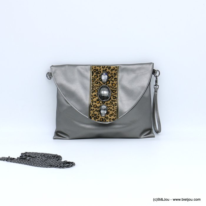 handbag 0918539-20 pouchs leopard-print synthetic-glass 26.5x21cm