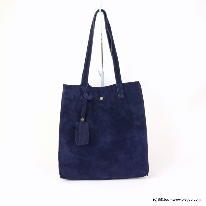 handbag 0919022-09 GENUINE LEATHER tote suede style 32x33.5x11.5cm