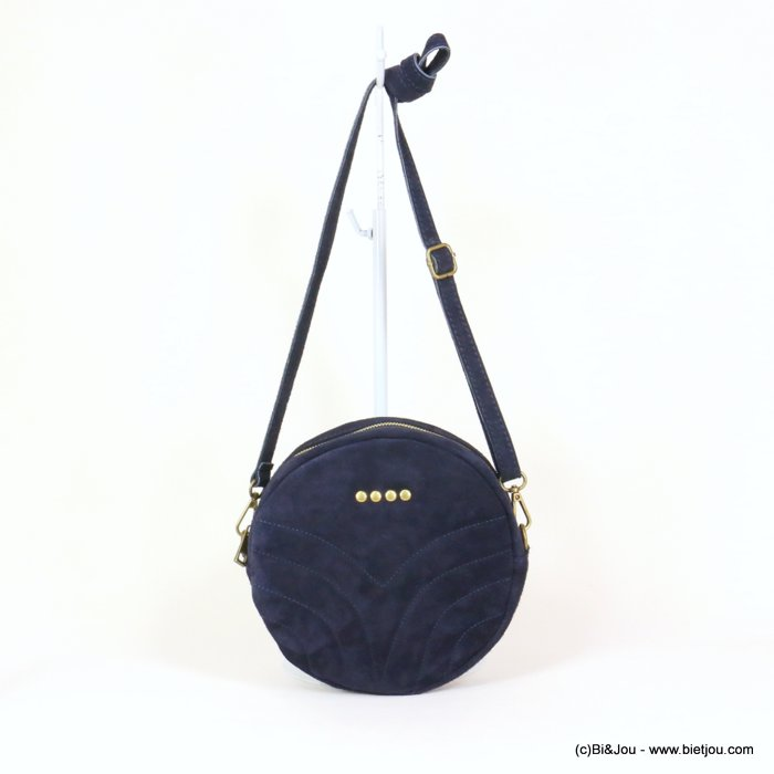 handbag 0919023-09 suede style 21x5.5cm GENUINE LEATHER