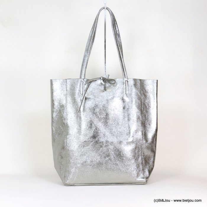 handbag 0919025-13 GENUINE LEATHER tote 40x36.5x12cm