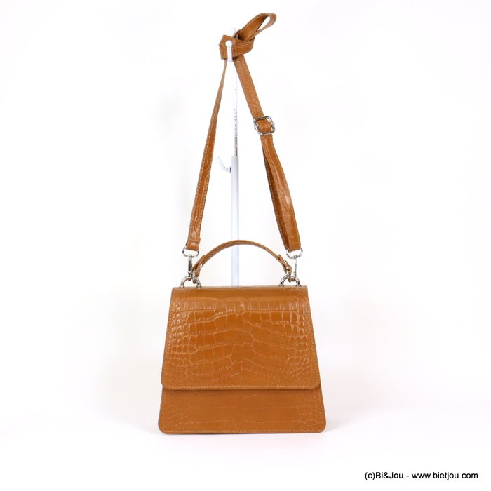 handbag 0919030-02 GENUINE LEATHER croco 23x19.5x9cm