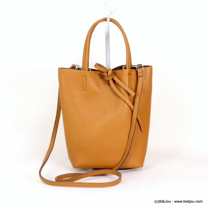 handbag 0919043-02 GENUINE LEATHER 23.5x22.5x7.5cm