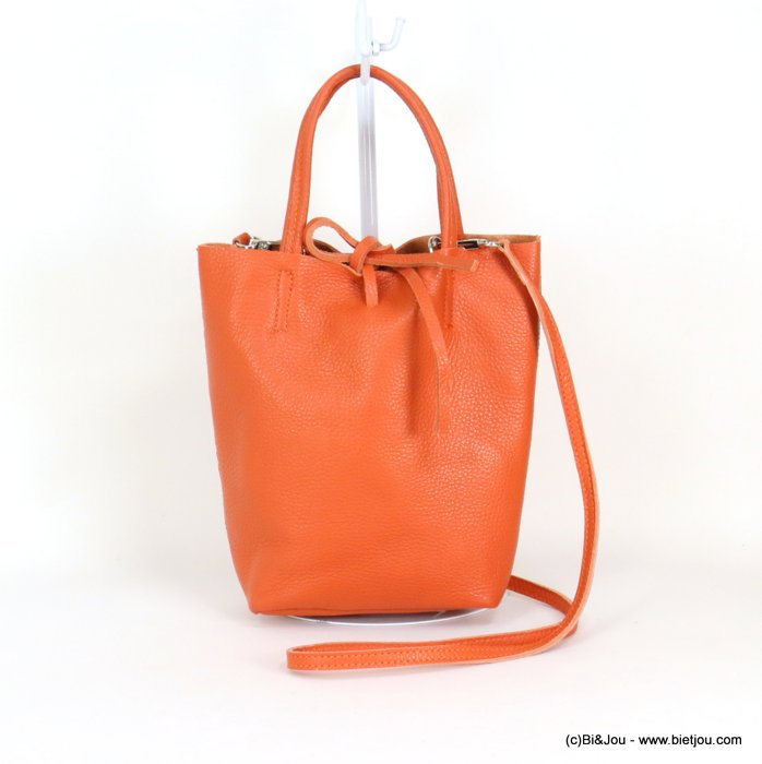 handbag 0919043-11 GENUINE LEATHER 23.5x22.5x7.5cm