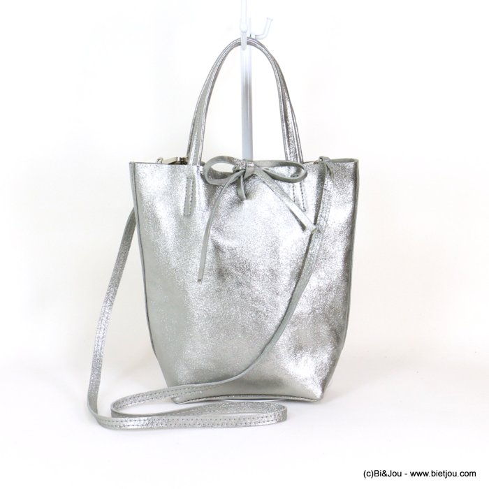 handbag 0919043-13 GENUINE LEATHER 23.5x22.5x7.5cm