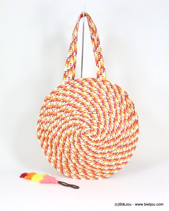 handbag 0919105-11 braided paper 40cm