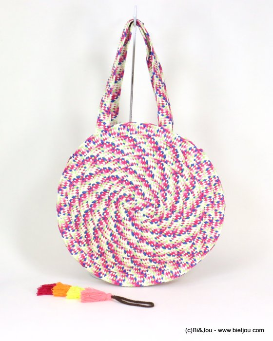 handbag 0919105-28 braided paper 40cm