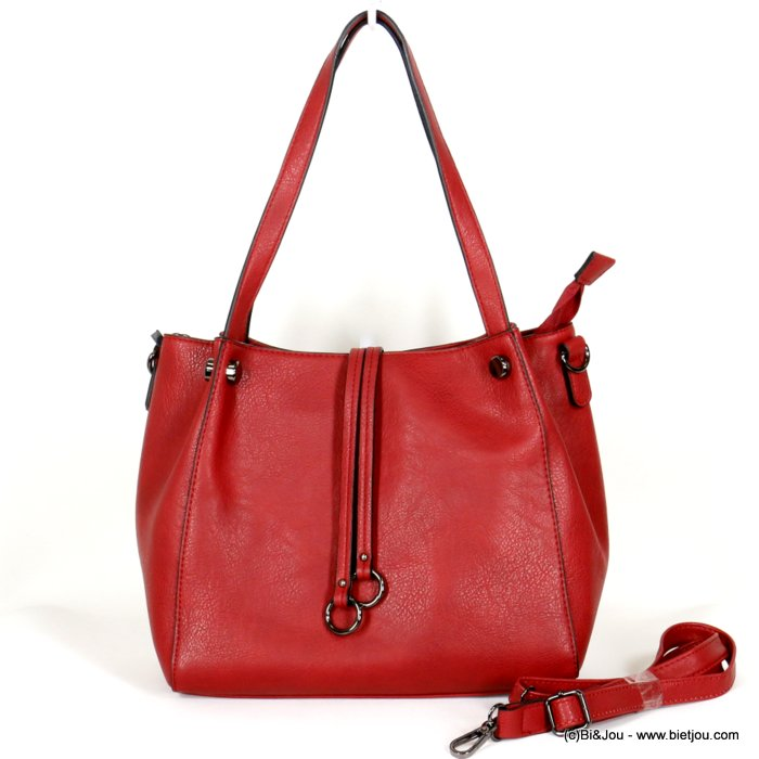 handbag 0919512-12 faux-leather synthetic double ring soft removable shoulder strap 30x26x12cm
