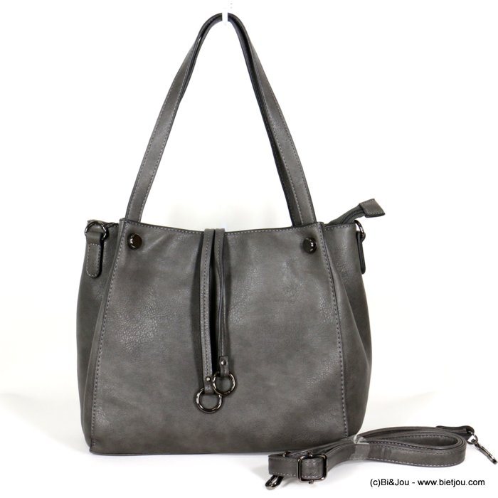 handbag 0919512-26 faux-leather synthetic double ring soft removable shoulder strap 30x26x12cm