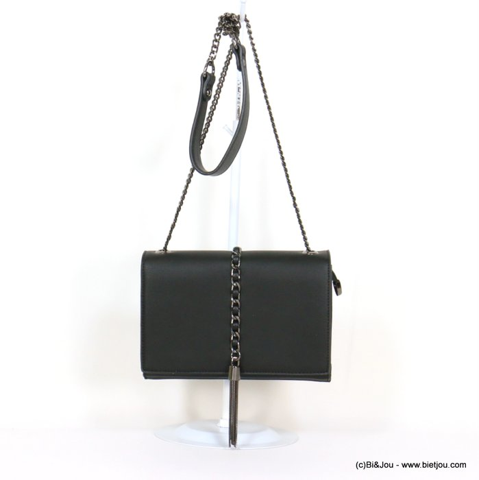 handbag 0919522-01 chain shoulder box chain tassel grained imitation-leather synthetic 22x15x6cm