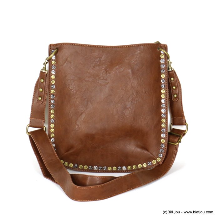 hangbag 0919540-02 synthetic stud flat strap zip 26x28x1cm